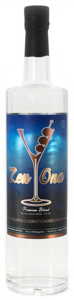 Zenona Premium Blend Pineapple Coconut Flavored Vodka